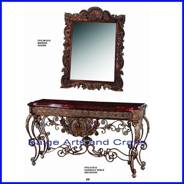 latest antique hotel hall corner console table s1610
