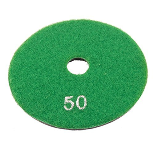 "Dimart 4"" Granite Stone Wet Dry Diamond Polishing Pad 1/5"" Thick 50 Grit"