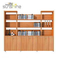 YS-ED04FC Wooden Office Storage File Cabinet Book Cabinet