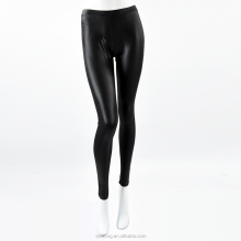 High Elastic Thin Out Wear Slim Legging Black Leather Pants for Women