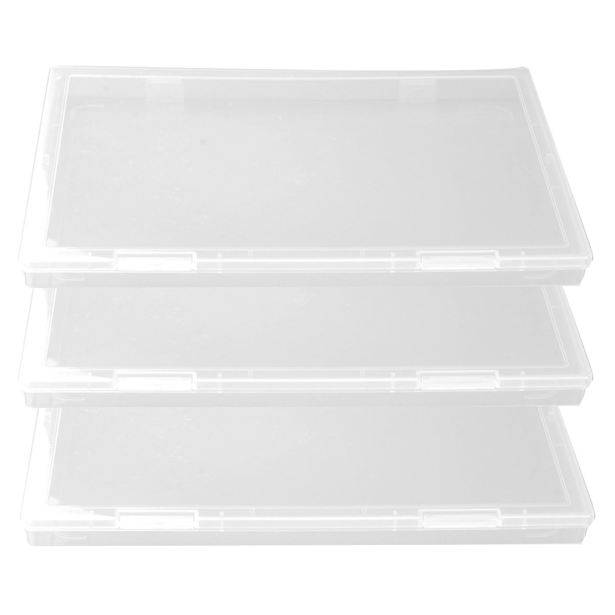 Attrayant Tinksky A4 Clear Plastic Paper File Box Document Storage Box Case Organizer    3 Pcs/