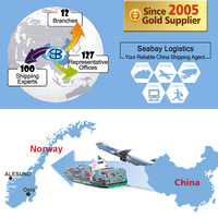 Alibaba china shipping freight forwarder serivce agent from china to norway oslo