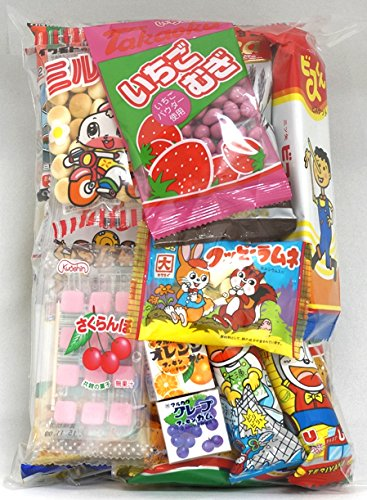 "Assorted Japanese Junk Food Snack ""Dagashi"" Economical 20 Packs of 19 Types"