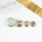 ECO-Friendly wholesale high quality custom metal rhinestone crystal glass stone snap button jewelry for coat