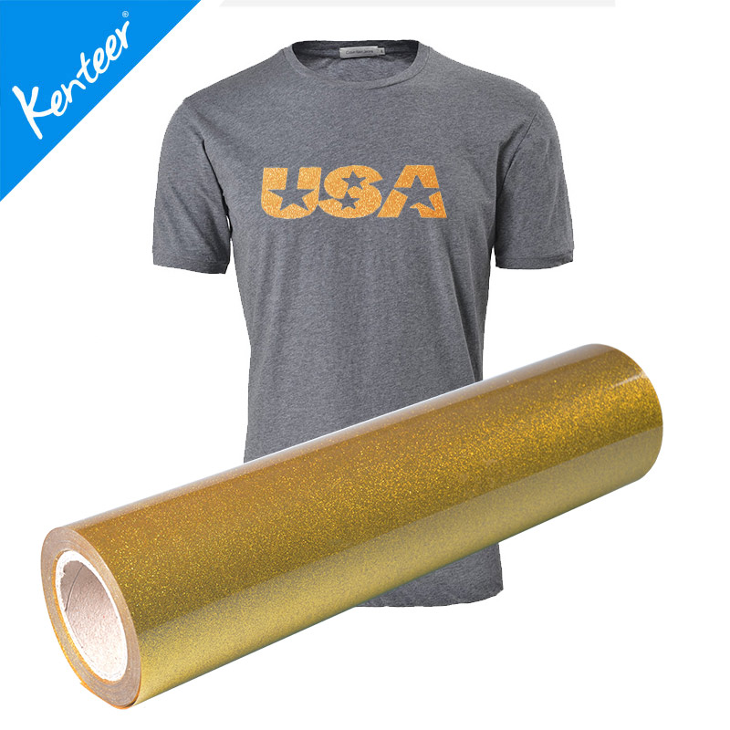 Kenteer TOP SALE special design glitter flex heat transfer vinyl sheet from manufacturer