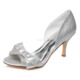 New Fashion Silver Glitter Dress Bridal Shoes Silver Piping Stiletto Heel Wedding Shoes For Women