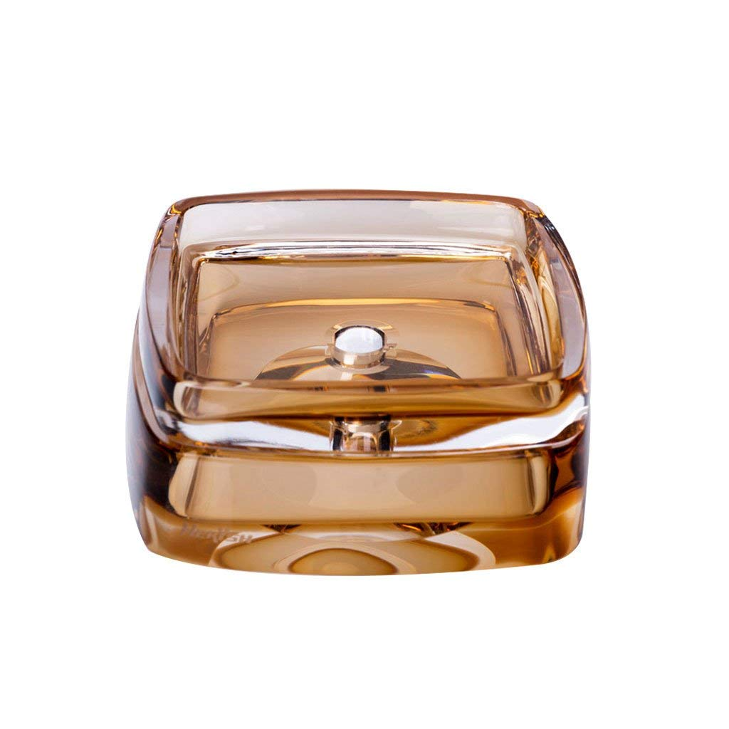 High-grade Glass Amber Creative Soap Dish Soap Box Artificial Blow Hand-Made High-end Double Glass Dish