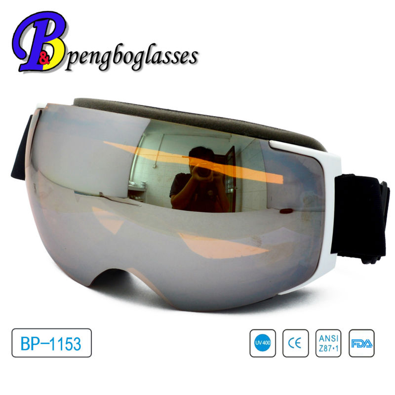 AZO Interchangeable lenses ski goggles with magnets