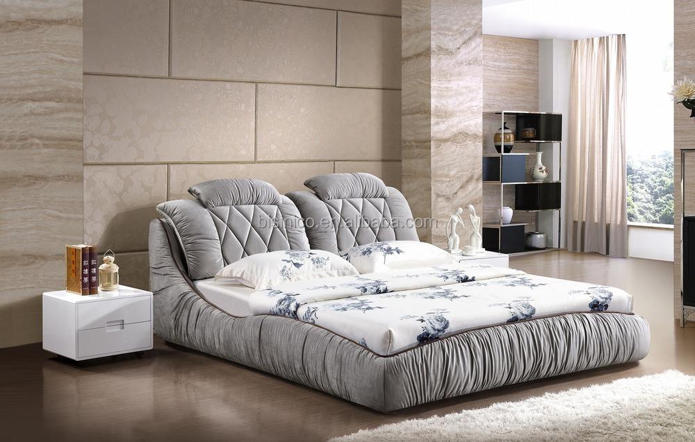 Panca Contenitore Tessuto : Stile contemporaneo tessuto grigio letto matrimoniale con