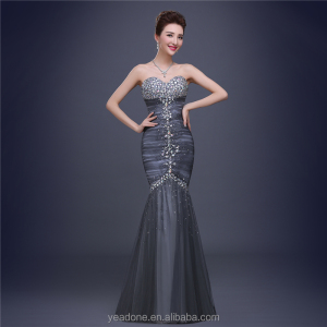 Luxury Rhinestone Beaded Mermaid Formal Evening Dresses