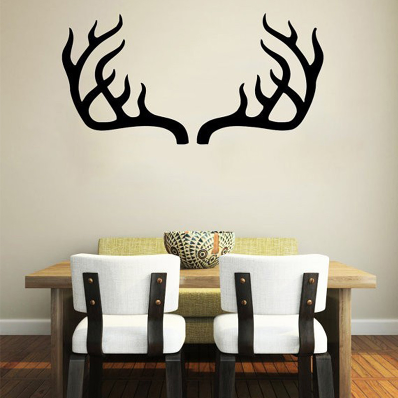 Deer Antler Horns Safari <font><b>African</b></font> Animals Nursery Kids Baby Room Bedroom Wall Decal Vinyl Wall Stickers <font><b>Home</b></font> <font><b>Decor</b></font> Design Mural