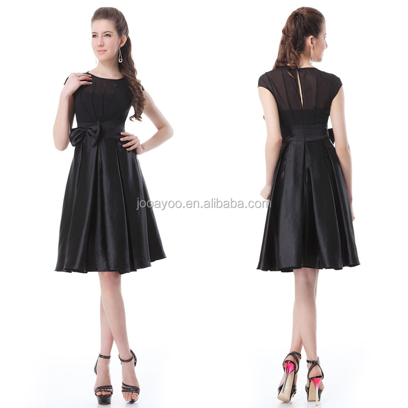 Wholesale Womens High Quality Slim Dress Black Satin Casual Dress ...