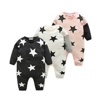2019 autumn winter newborn cotton star print long-sleeved baby rompers clearance sale skin-friendly comfort