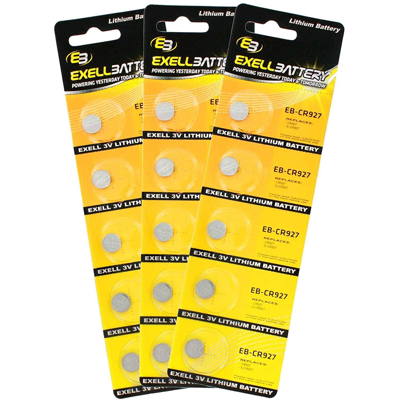 3 x 5pack Exell EB-CR927 3V Lithium Coin Cell Battery Replaces DL927, BR927, KL927, L927, ECR927, KCR927, E-CR927, KECR927