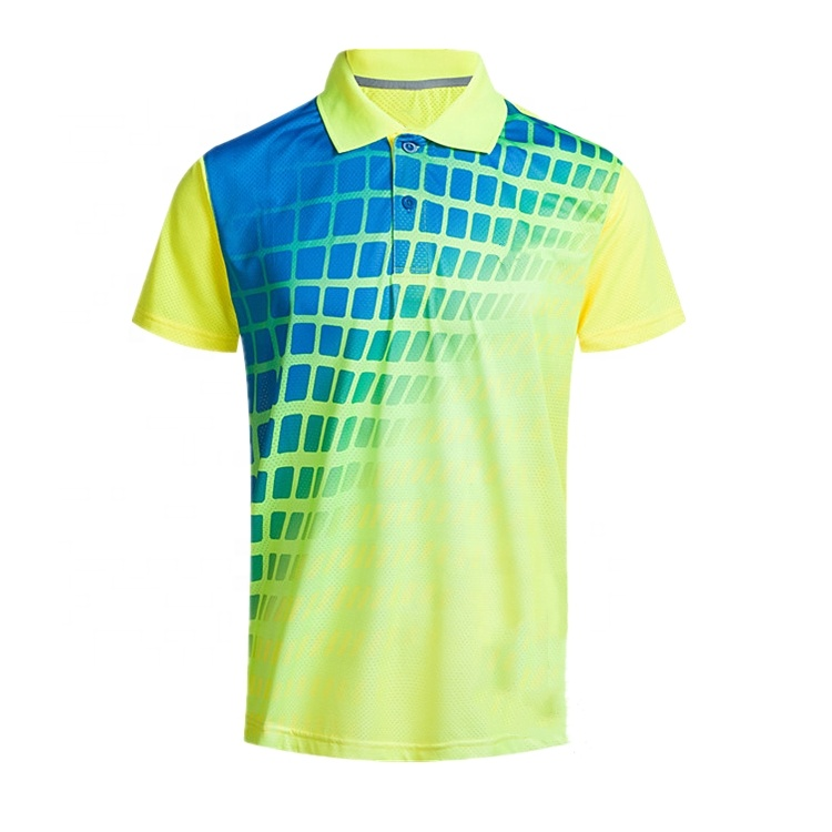 Wholesale Customizable Sublimation Polyester Spandex Latest Design Plain Golf Polo Shirt For Men