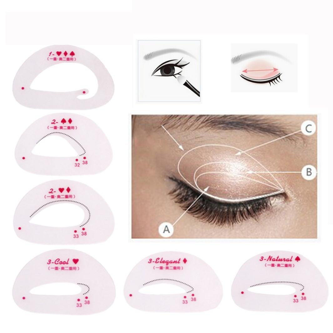 certainPL Eyebrow Shaping Stencils, Eyebrow Grooming Stencil Kit, Shaping Templates DIY Tools (Red)