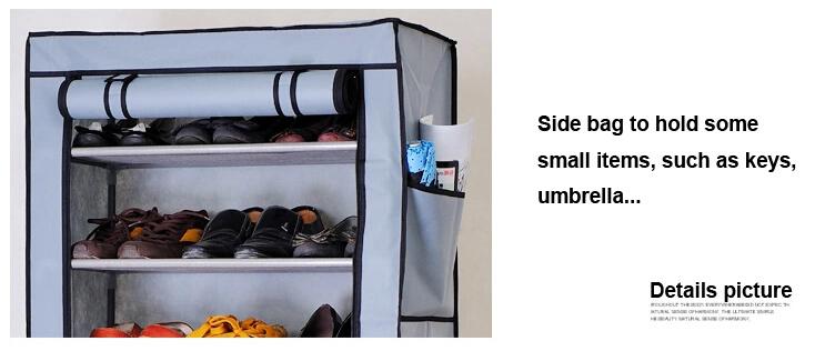 2018 Non Woven Fabric Wardrobe Storage Organizer Portable Clothes Closet