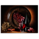 Fruit Grape Printed Wall Art Still life Barrel Wine Modular Picture Crafts Wallpapers Room Bar Hotel Decor Still Life Canvas