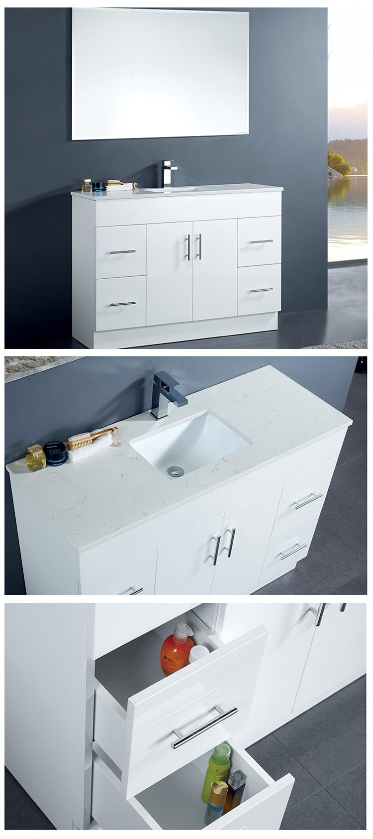 Luxury Bathroom Vanity With Washing Basin Bathroom Sink And Cabinet Combo Laundry Cabinet
