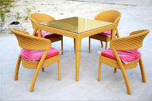 Restaurant furniture wicker dining tables and chairs outdoor furniture