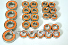 High Performance X FACTORY ATOMIC CARBON ceramic bearing kits with different rubber seal color