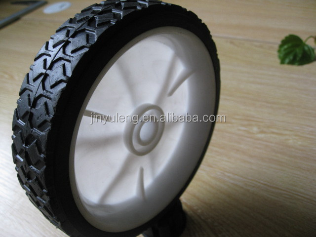 7inch small solid rubber wheels for toys /lawn mower/ carts