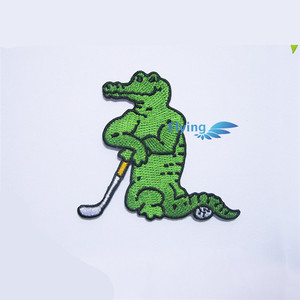 special design wholesale crocodile golf fashion embroidery patch