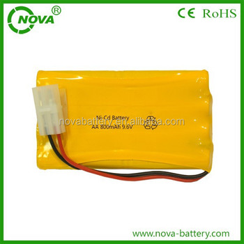 China Supplier Ni-cd Aa 800mah Nicd Battery Pack 9.6v