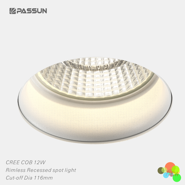 Creechip 12w rimless led recessed spot light cut off dia116mm buy creechip 12w rimless led recessed spot light cut off dia116mm aloadofball Image collections