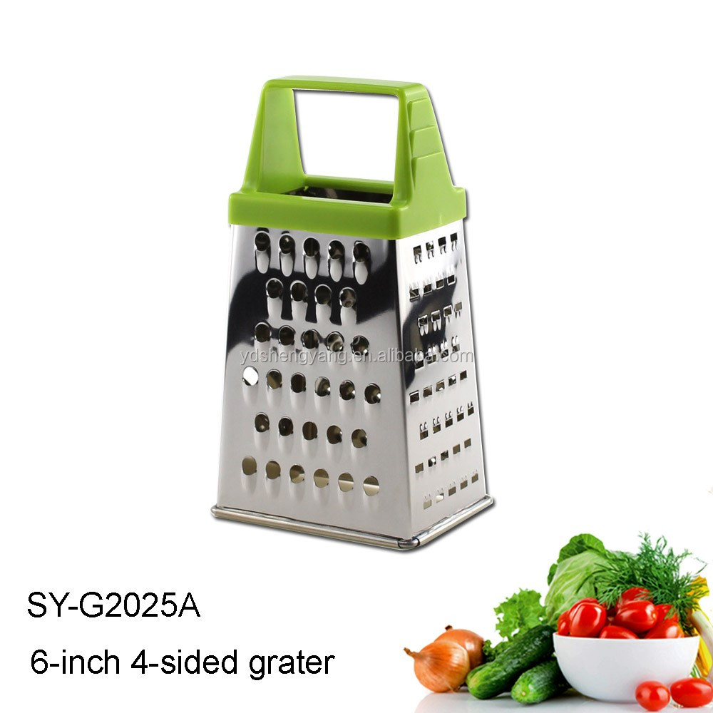 SY-G2025 4 Sides Stainless Steel Grater With Handle 5-Inch