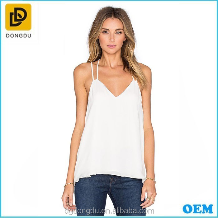 2017 new designs Sexy white tops wholesale with your own designs