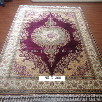 Size 2x3m Handmade Turkish Silk Carpet Purple Rugs Hali Price