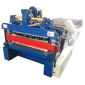 BD double deck roll forming machine for sale/metal roof tile making machine