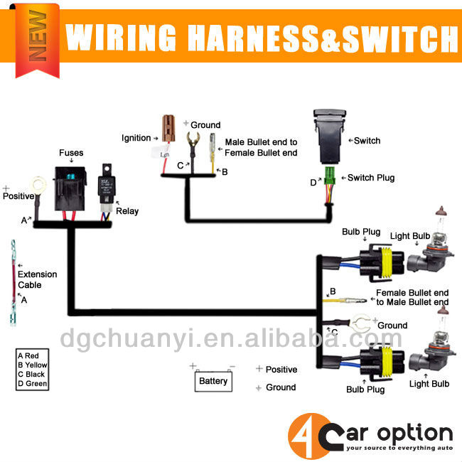 universal fog lamp wiring harness with relay and switch buy foguniversal fog lamp wiring harness with relay and switch
