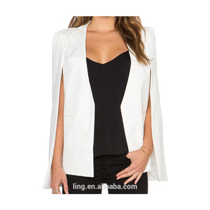 Autumn Fashion Woman Wear New Design Ladies White Blazer