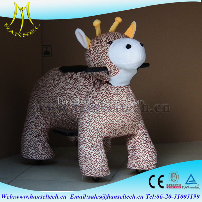 Hansel walking on ground fur real pony for kids electric animal scooter ride with CE
