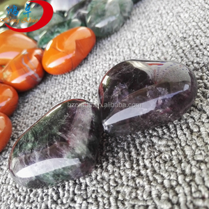 Heart shape rocks natural crystal heartstone gemstone puffy hearts