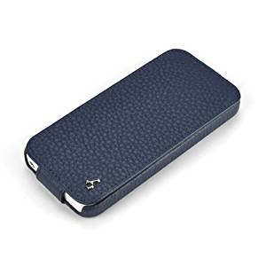Story Leather Apple iPhone 5 Premium Blue Handmade Genuine Leather Phone Down Flip Case