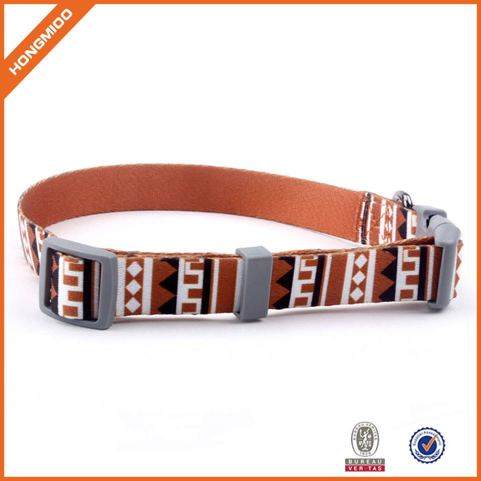 Fashion Design Your Own Logo Customized Polyester Patterned Designer Personalized Nylon Dog Collar