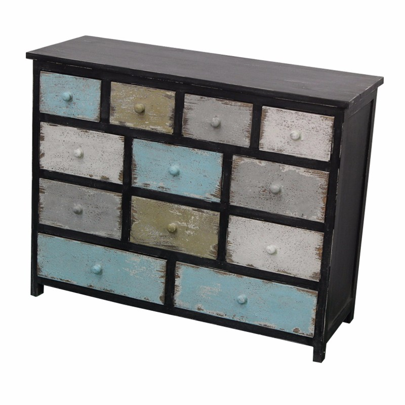 France Farmhouse 12 Drawers Reclaimed Wood Cabinet View Reclaimed Wood Cabinet Luckywind Product Details From Luckywind Handicrafts Company Ltd On
