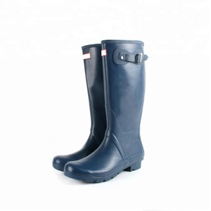 Factory manufactory long rubber boots cheap rain boots 2018 hunting wellies wholesale