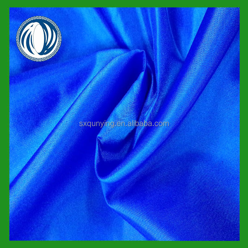 100% polyester satin fabric 80gsm satin on stocklot quick delivery