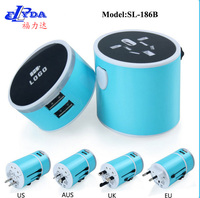 business gift travel adapters with 2 USB ports