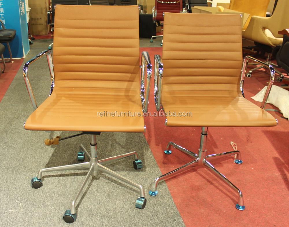 Sedie Da Ufficio Senza Ruote : Girevole ergonomica poltrona direzionale in pelle sedie da ufficio