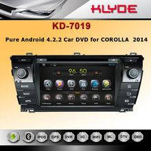 Hot sell With USB / Car In-Dash DIVX/MP3/CD/DVD Player+USB/SD Slot car dvd for corolla 2014