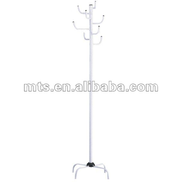 Three Legs one support dispaly stand with hooks hanging cloth hats
