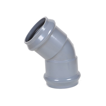 UPVC PVC Plastic Pipe Fitting 45 Degree Elbow Dimensions With Rubber Ring