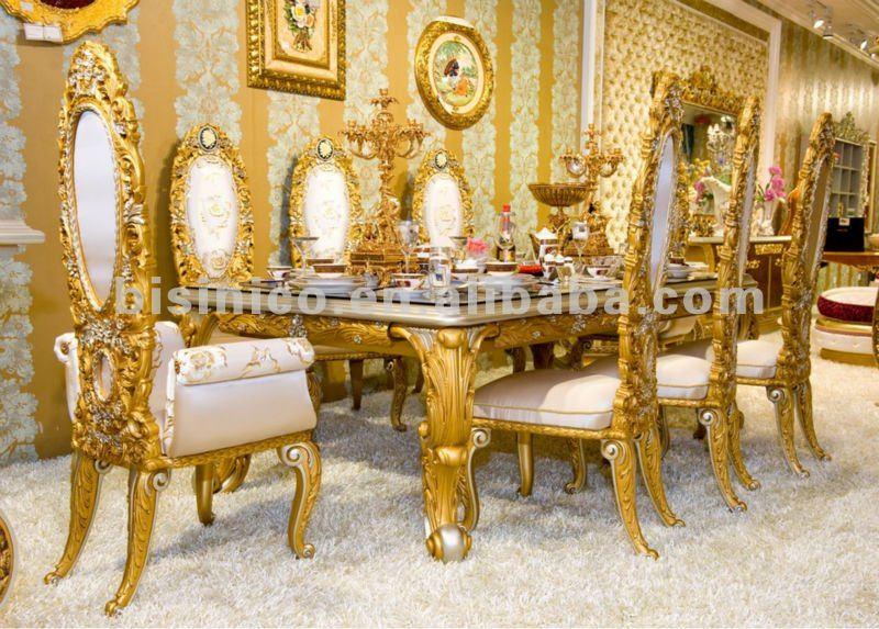 Casa De Luxo Mesa De Jantar Conjunto Mesa E Cadeira De