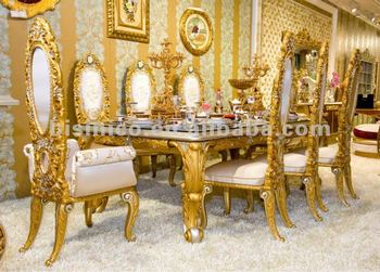 Luxury Home Dining Table Set,european Classical Dining Table And Chair,wooden  Hand Carving
