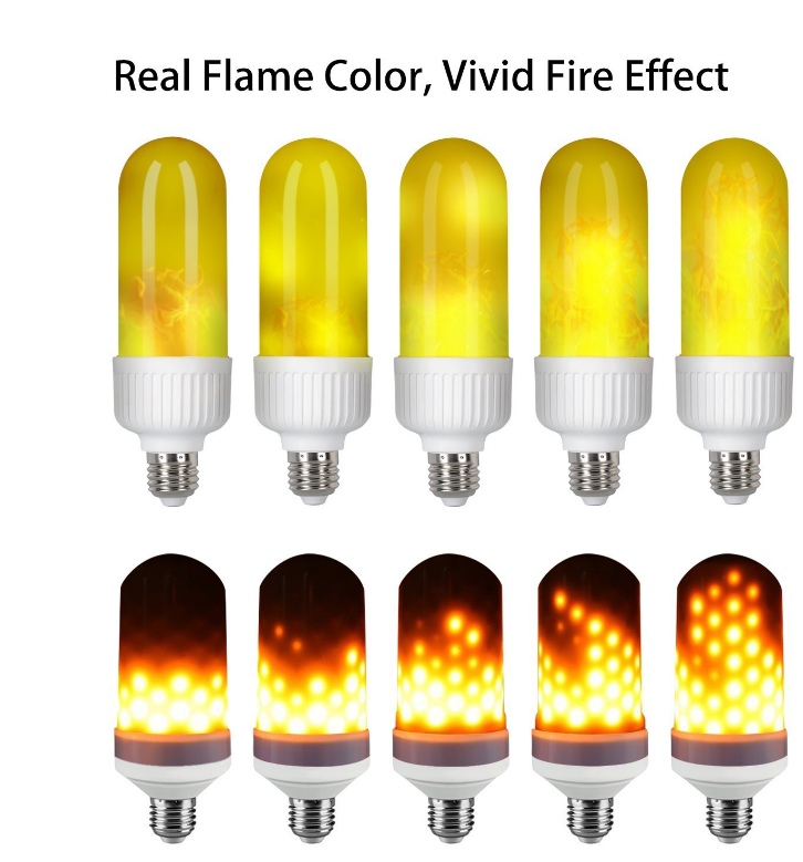 Led Flame Light Bulbs E27 Nature Fire 3 Modes Simulated Nature Fire  Flickering Fire Effect Atmosphere Decorative Light Bulb - Buy High Quality  Led